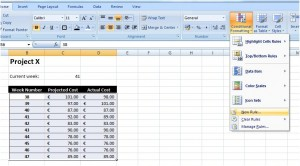 "Figure 3: Selecting ""New Rule..."" from the ""Conditional Formatting"" option"