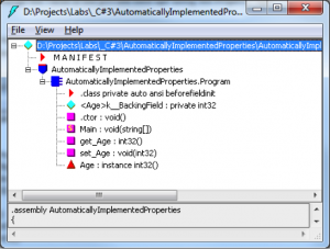 C# Automatically Implemented Properties - IL DASM