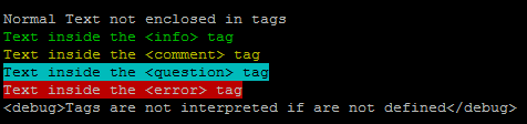 Console output tags