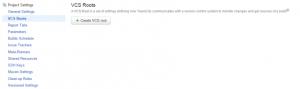 TeamCity VCS Root Create Option