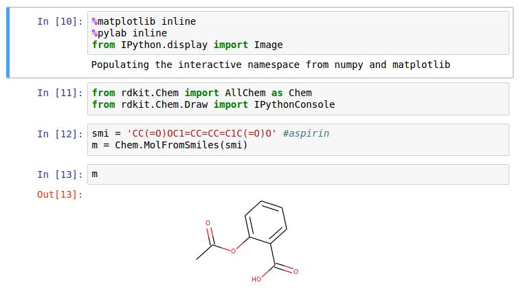 aspirin molecule and rdkit
