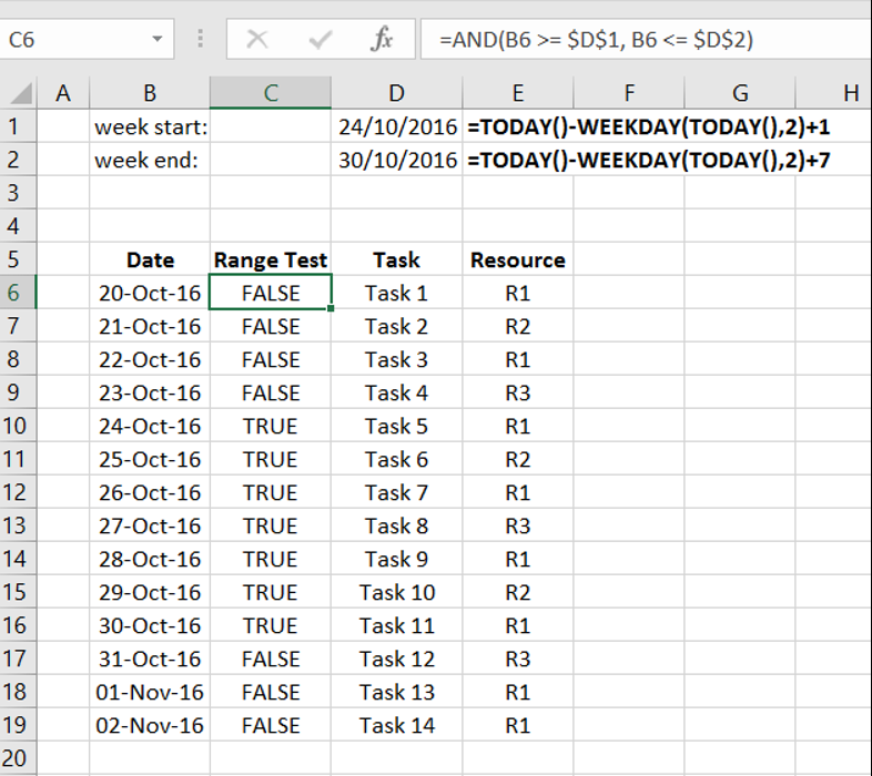 Highlight a set of rows in Excel based on date range – Clounce com